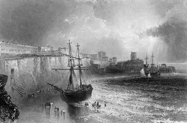Broadstairs, Kent, engraved by Robert Brandard, 1842
