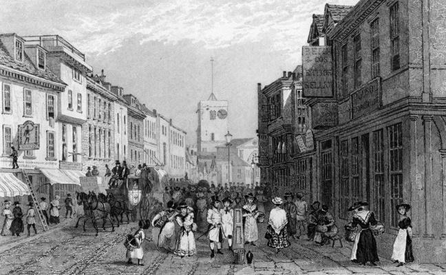 Market day in Dartford, Kent, engraved by Henry Adlard, c.1830