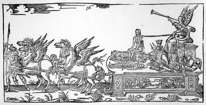 The Chariot of Fame, part of the Triumph of Henri II, published in 1551