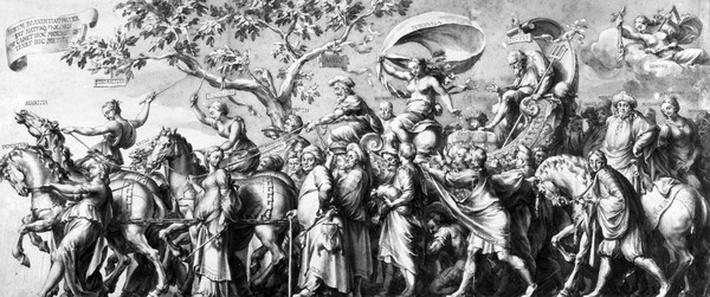 The Triumph of Riches, drawn by Jan de Bisschop, c.1650