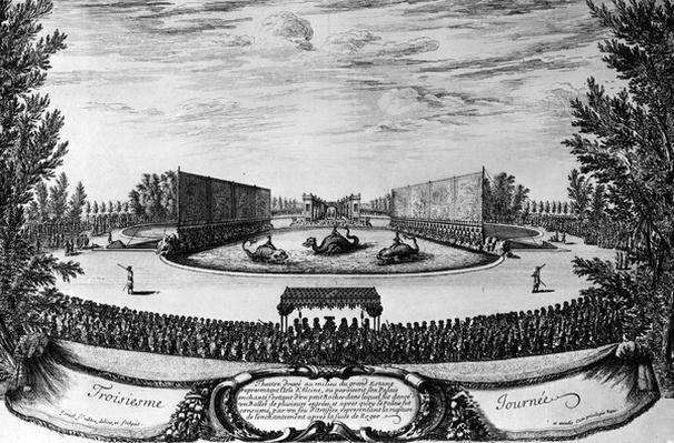 Performance of the ballet 'L'Isle d'Alcine', 1673
