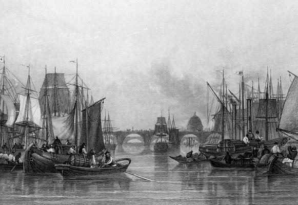 The Upper Pool, River Thames, engraved by John Woods, 1851