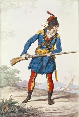Military Dress, engraved by Vivant Dominique Denon