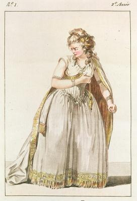 Costume of Madame Vestris in the role of Pauline in Polyeucte, Act IV, 1786