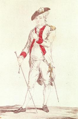 Monsieur Dugazon in the role of Chevalier de Forbignac in Curieux de Compi�gne
