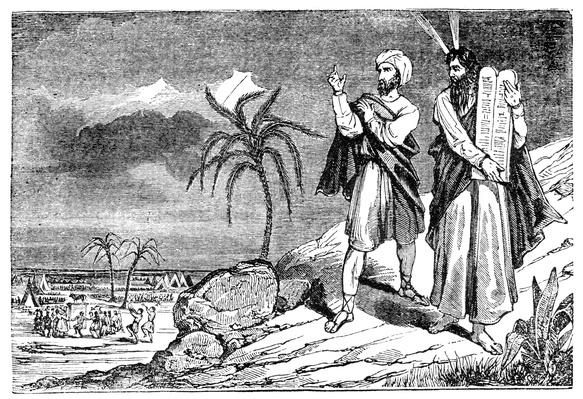 Moses with ten commandments on Mount Sinai | World Religions: Judaism
