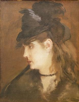 Berthe Morisot in a Black Hat