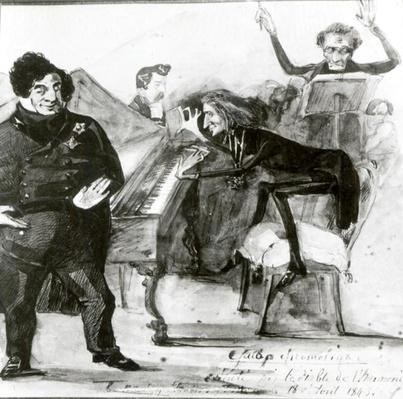 Galop Chromatique Caricature of Luigi Lablache, Franz Liszt