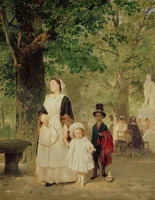 Promenade in the Tuileries Gardens, 1855