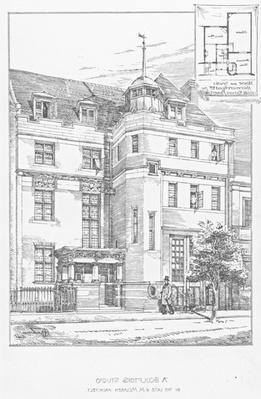Design for A Sculptor's Studio, 1889