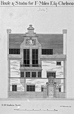 House & Studio for F. Miles Esq., Chelsea, illustration from 'The British Architect and Northern Engineer', published December 6 1878
