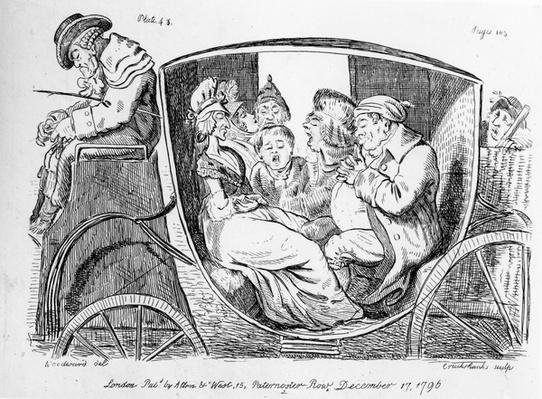 Stage Coach Passengers Asleep, Plate 43 to 'Eccentric Excursions