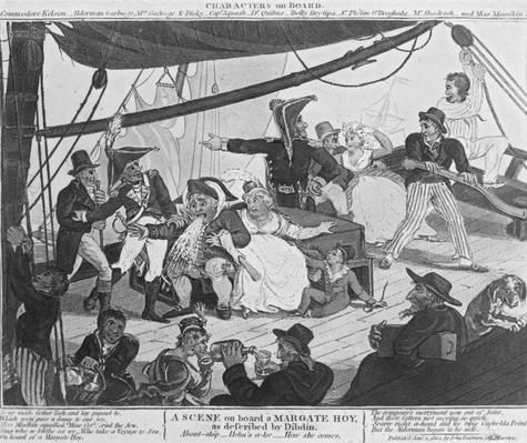 A Scene on board a Margate Hoy, as described by Dibdin, 1804