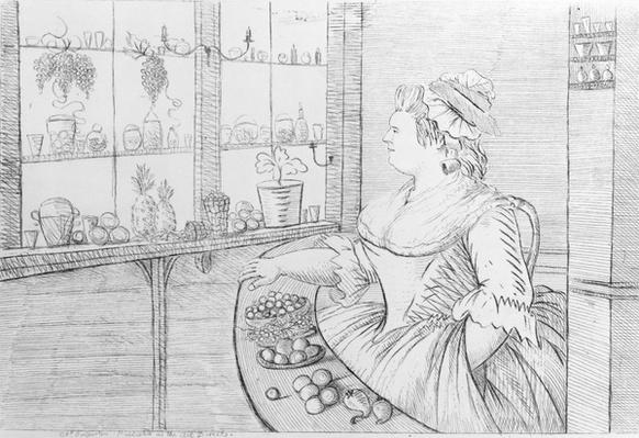 Mrs Weltje in her Shop in Pall Mall, 1783