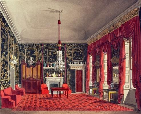 The Queen's Breakfast Room, Buckingham House, engraved by Daniel Havell