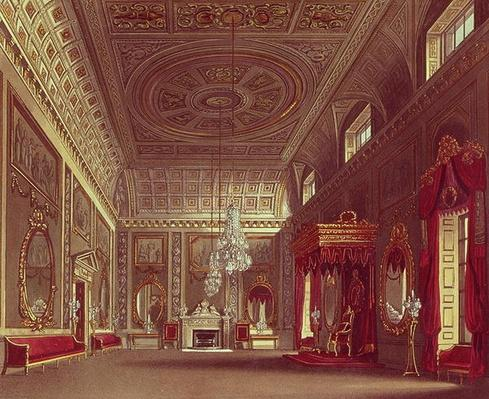 The Saloon, Buckingham Palace from Pyne's 'Royal Residences', 1818