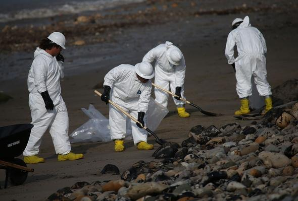 California Declares State Of Emergency As Oil Spill Harms Pristine Coastline | Human Impact on the Physical Environment | Geography