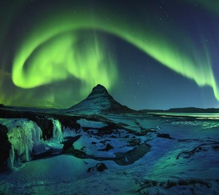 Freezing Kirkjufell and Aurora Storm | Wonders of the World