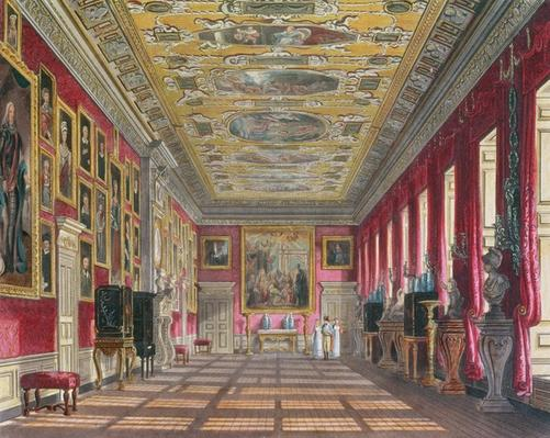 The King's Gallery, Kensington Palace from Pyne's 'Royal Residences', 1818