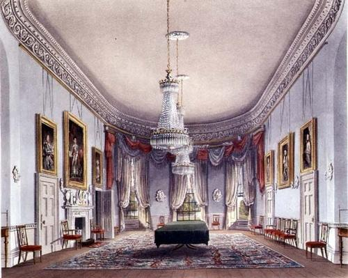 The Dining Room, Frogmore from Pyne's 'Royal Residences', 1818