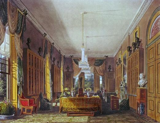 The Queen's Library, Frogmore, Pyne's 'Royal Residences', 1818