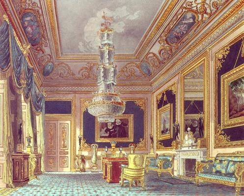 The Blue Velvet Room, Carlton House from Pyne's 'Royal Residences', 1818