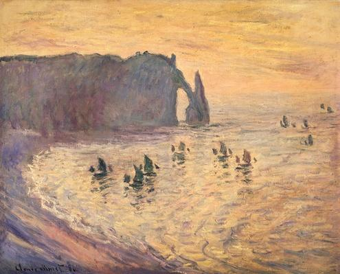 The Cliffs at Etretat, 1886