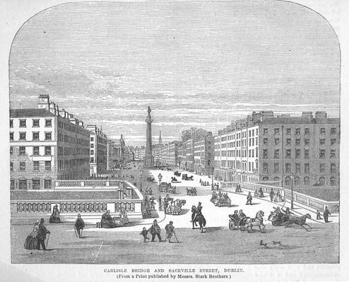 Carlisle Bridge and Sackville Street, Dublin