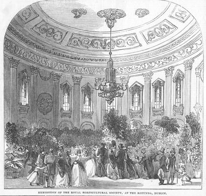Exhibition of the Royal Horticultural Society, at the Rotunda, Dublin, illustration from 'The Illustrated London News', 1854