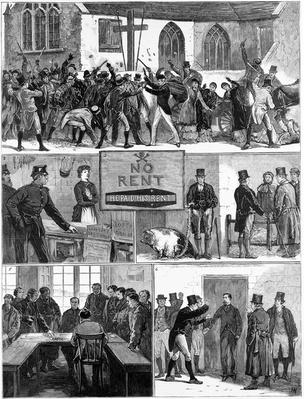 The Conditions of Ireland, illustration from 'The Graphic', published December 24 1881