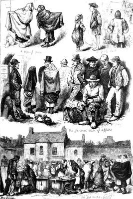 Sketches at Galway, illustration from 'The Illustrated London News', 1880