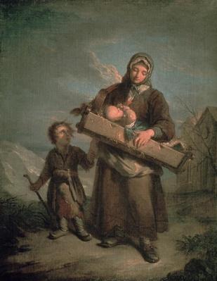 Poor Woman with Children