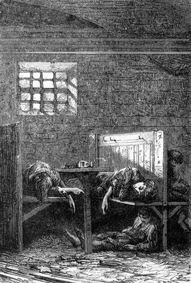 Little Sleeping Vagabonds, illustration from 'Ricordi di Londra' by Edmondo de Amicis, published 1874