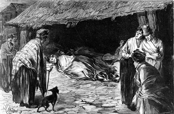 Outcasts Sleeping in Sheds in Whitechapel, 1888