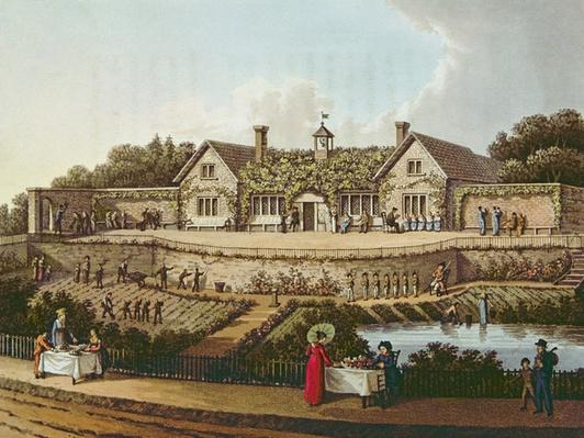 The Work House, illustration from 'Fragments on the Theory and Practice of Landscape Gardening' by Humphry Repton, published 1816