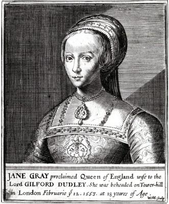 Jane Gray, engraved by William Marshall, 1648