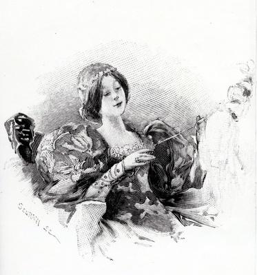 Sleeping Beauty, illustration from 'Les Contes de Perrault' by Charles Perrault, published 1894 by Scuravi (19th century)