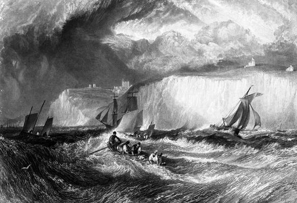 The Straits of Dover, engraved by William Miller, 1827