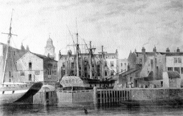 The Gun Dock at Wapping, 1850