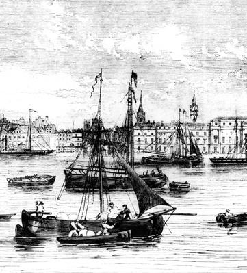 Wharfs on the River Thames, Nicholson's Wharf to Customs House