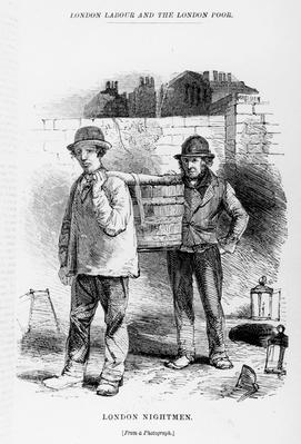 London Nightmen, illustration from 'London Labour and the London Poor' by Henry Mayhew, c.1840s