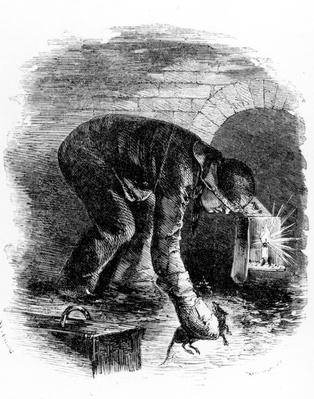 The Rat-Catchers of the Sewers, illustration from 'London Labour and the London Poor' by Henry Mayhew, c.1840s