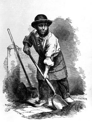 The London Scavenger, illustration from 'London Labour and the London Poor' by Henry Mayhew, c.1840s