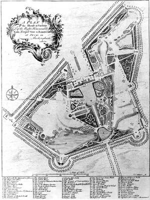 A Plan of the House and Gardens at Stowe, Buckinghamshire