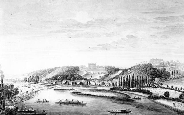 A View of Cliveden House taken from Maidenhead Bridge, c.1780