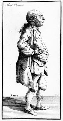 Caricature of Francis Harwood, c.1770