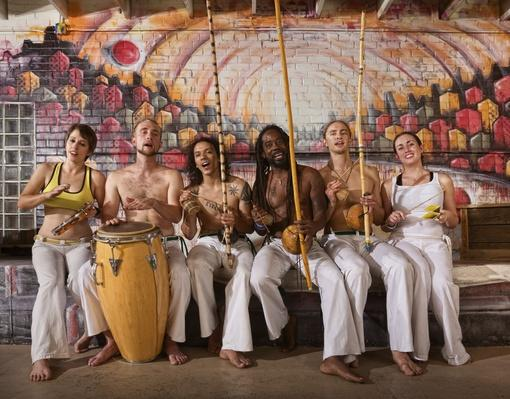 Cheerful Capoeira Team Singing | Musical Instruments