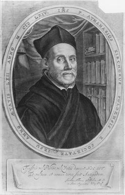 Portrait of Athanasius Kircher, German scholar, aged 62