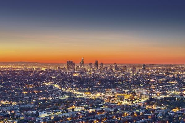Cityscape at dawn, Los Angeles, California, United States | Cityscapes | Geography 14.1