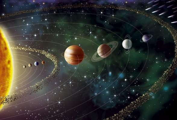 Solar system, illustration | Earth and Space